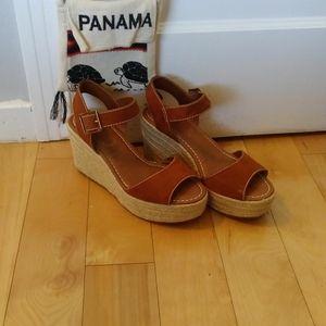 Tan Espadrille Sandal Wedges
